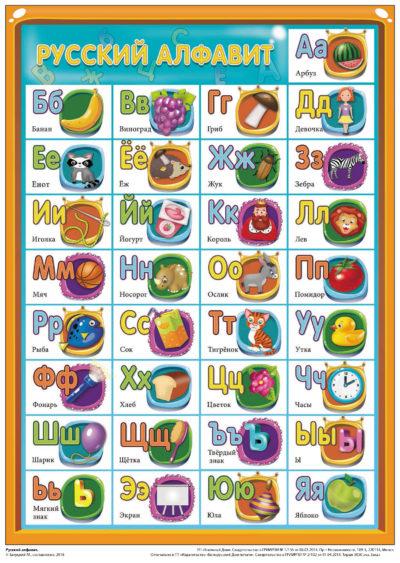 Русский алфавит А4 (2512)